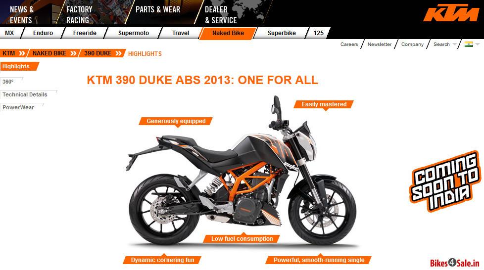 Ktm Official Website India