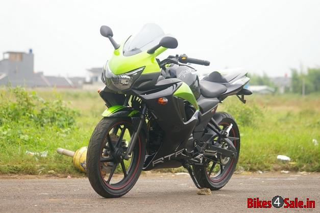 TVS Apche RTR 160 modified in Indonesia