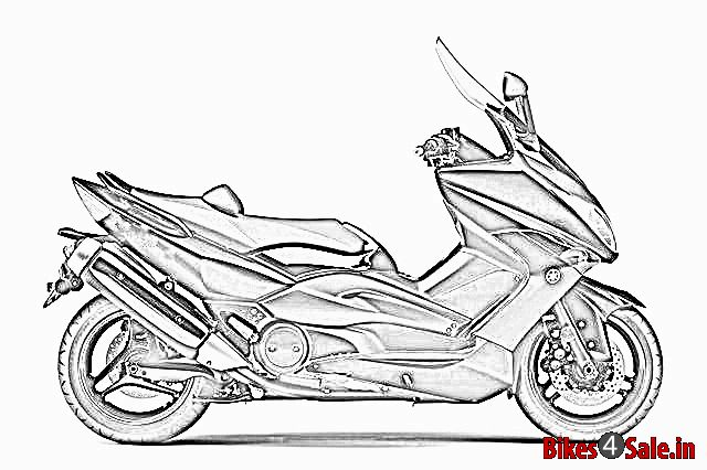 A prototype sketch of upcoming premium scooter of Yamaha in India