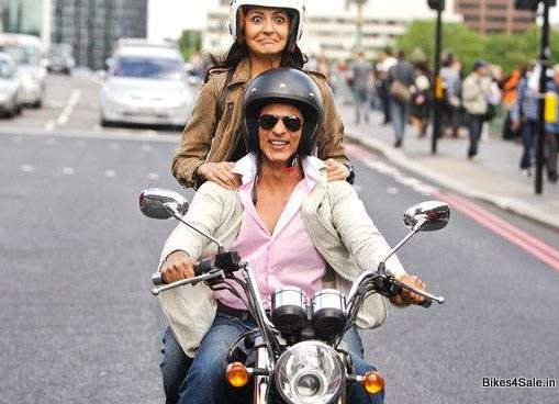 Sharukh Khan Riding Royal Enfield Thunderbird 500
