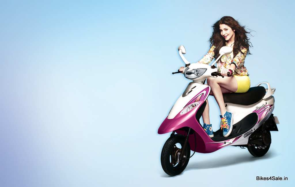Anushka Sharma with TVS Scooty Pep +