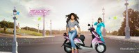 Deepika Padukone with Yamaha Ray